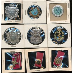 Cap Badges;  Lot of 6 different Cap badges, four Seem to be of french origin with religious orientat