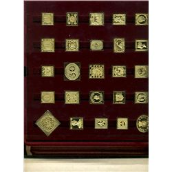 International Society of Postmasters; Superb binder containing 3 elegant display of rare stamps repr