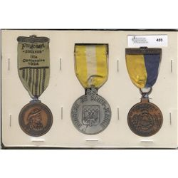 Medal Lot on Ribbons; 300Th Anniversary of Trois-Rivieres, Diocese de Saint-Jérome and Sherbrooke, Q