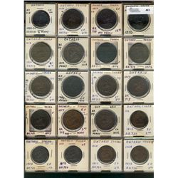 Ontario Issue Tokens;  46 various pieces including Burlignton Hwy issue tokens(4), Ottawa Bakery Tok