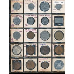 Merchant Tokens and Medals;  Lot of 11 various Ontario Merchant tokens and 9 moainly commerataive me