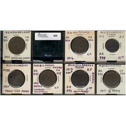 Miscellaneous issue Tokens;  7 pieces, Br;953, 990, 991, 992, 993 and 994(2).  Fair to EF.