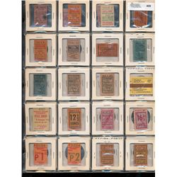 Tranportation Coupons & Tokens;  Lot of 40 pcs mainly from Montreal and Toronto dating early to mid