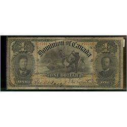 Dominion of Canada; 1 dollar note 1898, DC-13b, Courtney, 761764, ONE's Outward, Series K, Letter C,