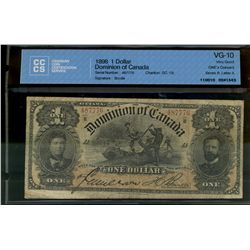 Dominion of Canada; 1 dollar note 1898, DC-13c, Courtney, 487776, ONE's Outward, Series R, Letter A,