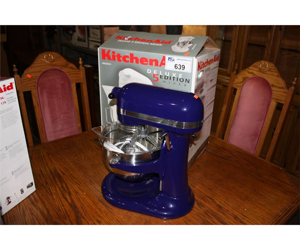 KITCHENAID DELUXE 5 EDITION STAND MIXER   COBALT BLUE. Loading Zoom