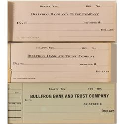 Bullfrog Bank & Trust unused checkbooks