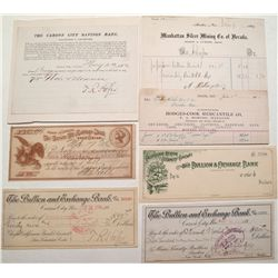Nevada checks and ephemera