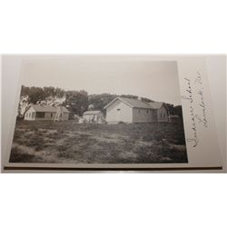 Real photo post card of the Indian school in Lovelock, Nevada