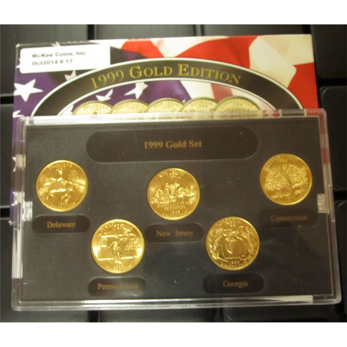 2007 gold edition state quarter collection   property room.