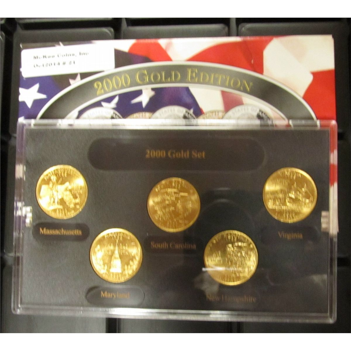 2004 gold edition state quarter collection.