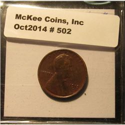 502. 1913 D Lincoln Cent. EF 40.