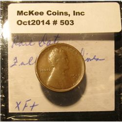 503. 1909 S VDB Lincoln Cent. EF.