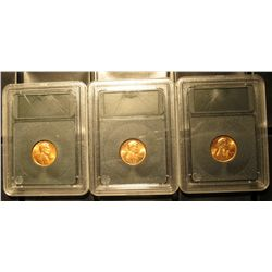 516. 1970 P, D, & S Gem BU Lincoln Cents in Special Holders. Very attractive.