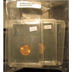 517. 1970 P, 72S, & 75 P Gem BU Lincoln Cents in Special Holders. Very attractive.