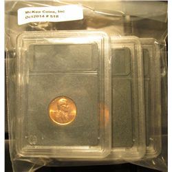 518. 1971 P, D, & S Gem BU Lincoln Cents in Special Holders. Very attractive.