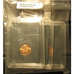 519. 1973 P, D, & S Gem BU Lincoln Cents in Special Holders. Very attractive.