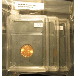 520. 1974 P, D, & S Gem BU Lincoln Cents in Special Holders. Very attractive.