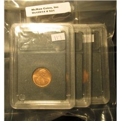 521. 1976 P, D, & 77 D Gem BU Lincoln Cents in Special Holders. Very attractive.