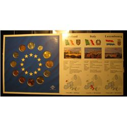 525. 12-Piece Set of Euro-Zone Countries Coins. Collection of the last National Coins. In a special