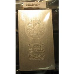 526. U.S.A. Land of the Free Home of the Brave 2012 Half Pound Aluminum Ingot.