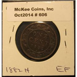 606. 1884 Canada Large Cent. VF.
