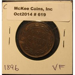 619. 1896 Canada Large Cent. VF.
