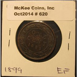 620. 1899 Canada Large Cent. EF.