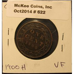 622. 1900H Canada Large Cent. VF.