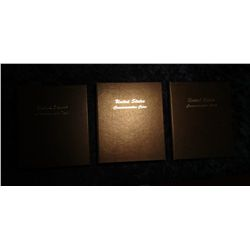 1522. 3 lightly used Dansco albums – US Commemorative Coins volumes 1&2 and US Commemorative Coins