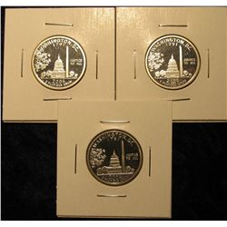 1536. 3 2004 proposed Washington, DC silver plated Washington Quarters, design was rejected / not u