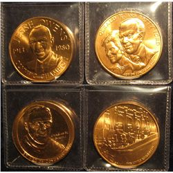 1548. 4 Bronze Act of Congress medals, all produced by the US Mint – Gerald & Betty Ford, Little Ro