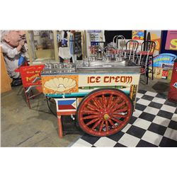 SPECIAL ORDER MOBILE ICE CREAM CART ( FIRST SEEN AT EXPO 86 )