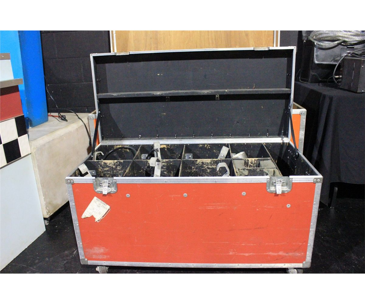 Orange mobile storage trunk with 6 stage lights for Orange mobel