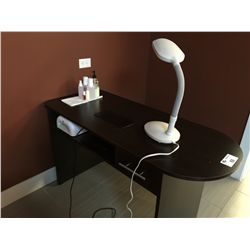 Manicure table with nail dryer and lamp for Manicure table lamp
