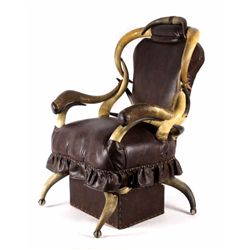 Antique western steer horn chair early 1900 for 560 salon grand junction