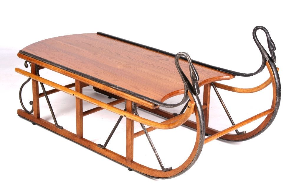 Good Sleigh Coffee Table Part - 6: ... Image 2 : Antique Style Trails Sleigh Coffee Table The Piece ...