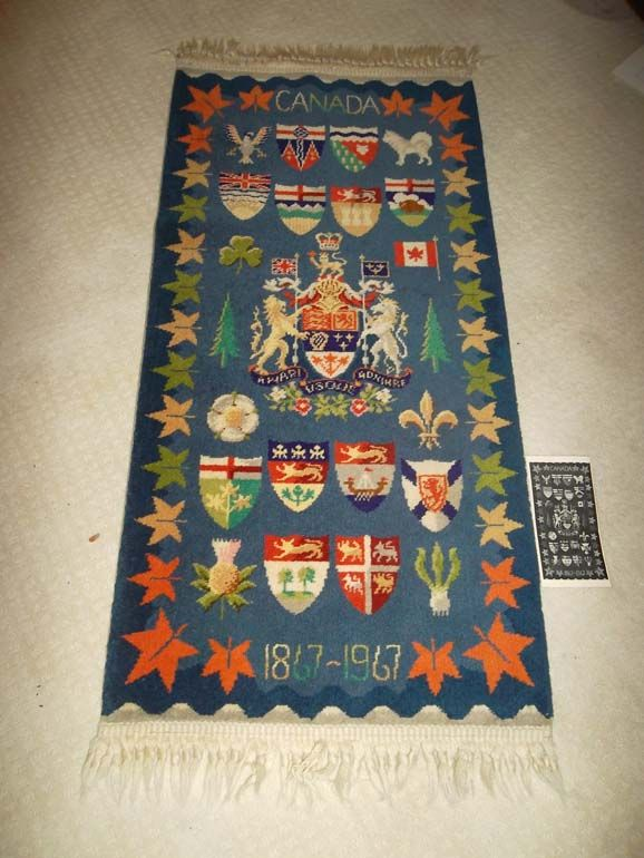 Image 1 Wool Centennial Rug 1967 Visually Describes The History Of Canada Literature Brinton