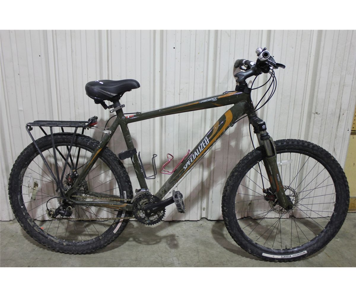 Green Specialized Hardrock Mountain Bike - Bicycling and ...