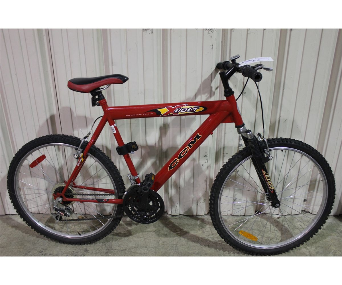 red ccm swinger bicycle