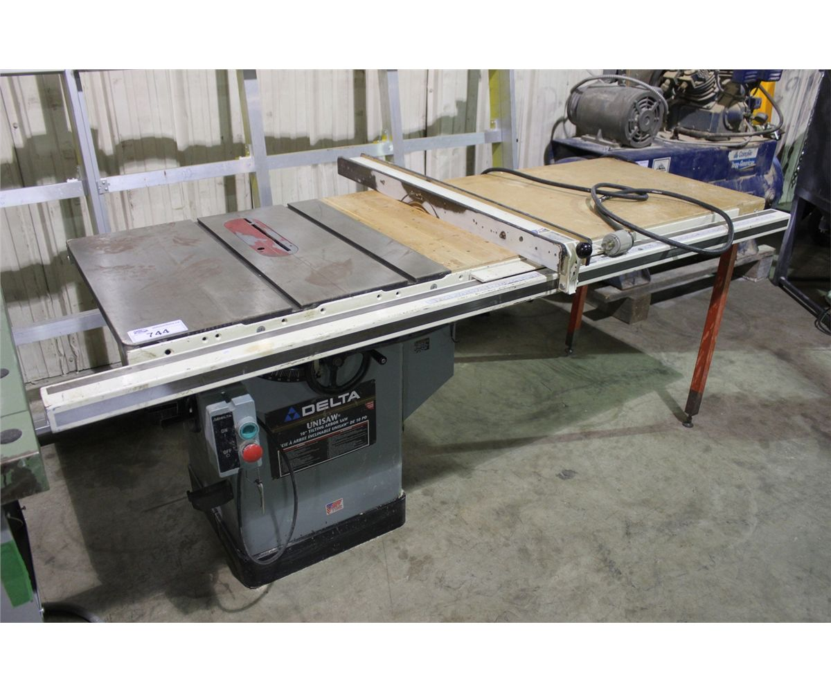 Delta 10 unisaw table saw with guard able auctions for 10 delta table saw price