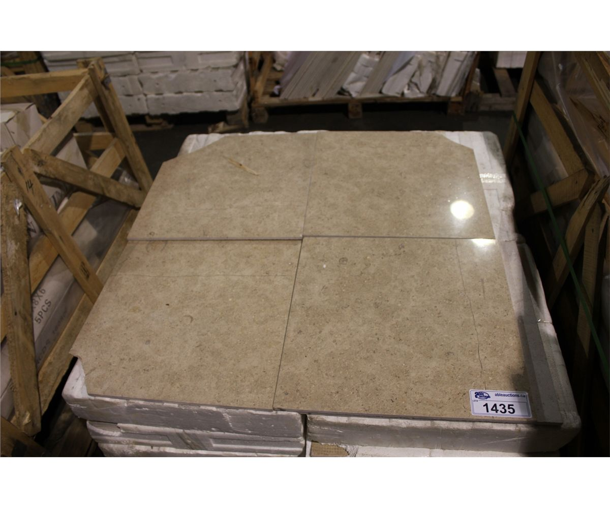 18 x 18 beige marble stone tiles 52 pcs able auctions for 18 x 18 marble floor tile