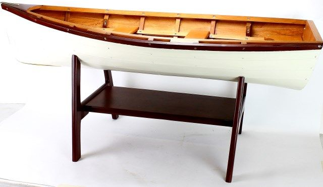Attrayant ... Image 4 : Miniature Row Boat Coffee Table On Wood Base