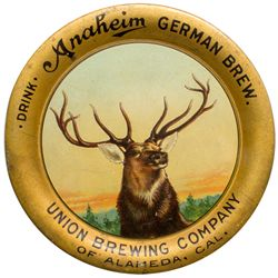 Union Brewing Co. Tip Tray, Anaheim German Brew