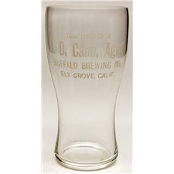 Elk Grove / Buffalo Brewing glass