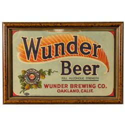 Wunder Beer Advertising Lithograph