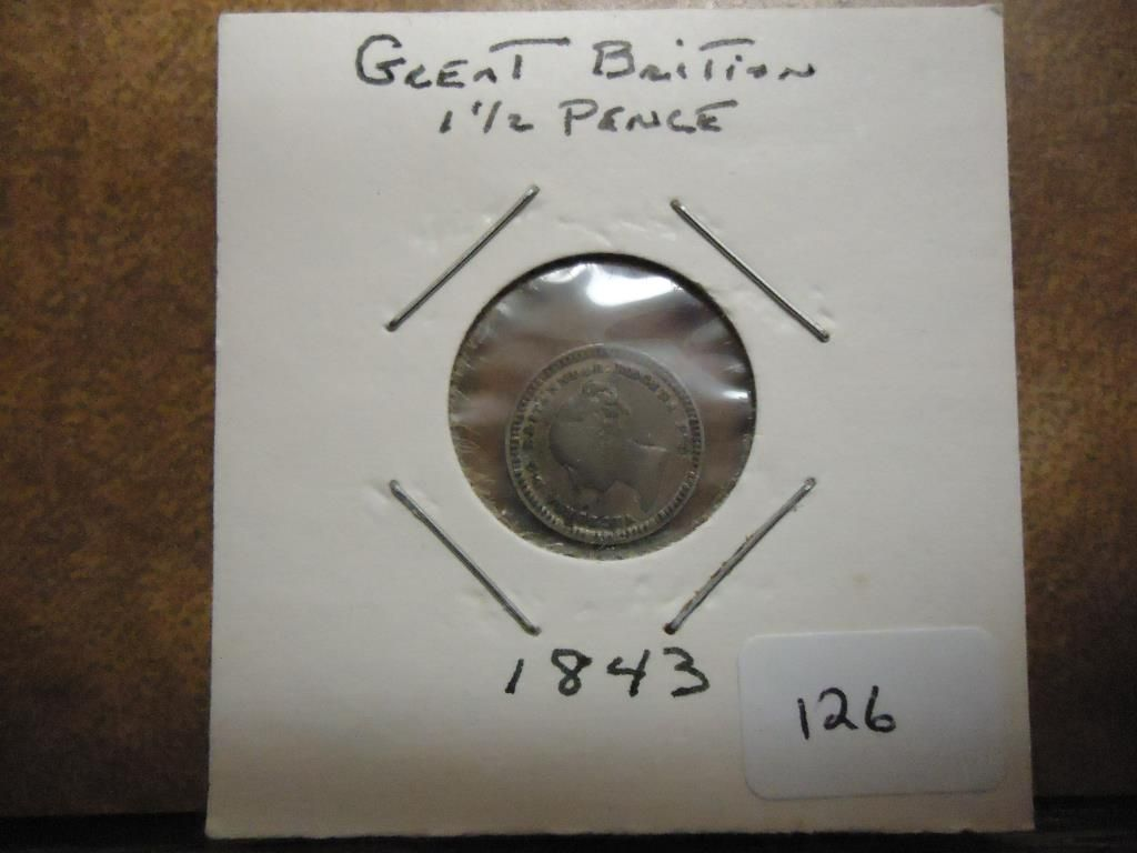 1843 Great Britain 1 1 2 Pence