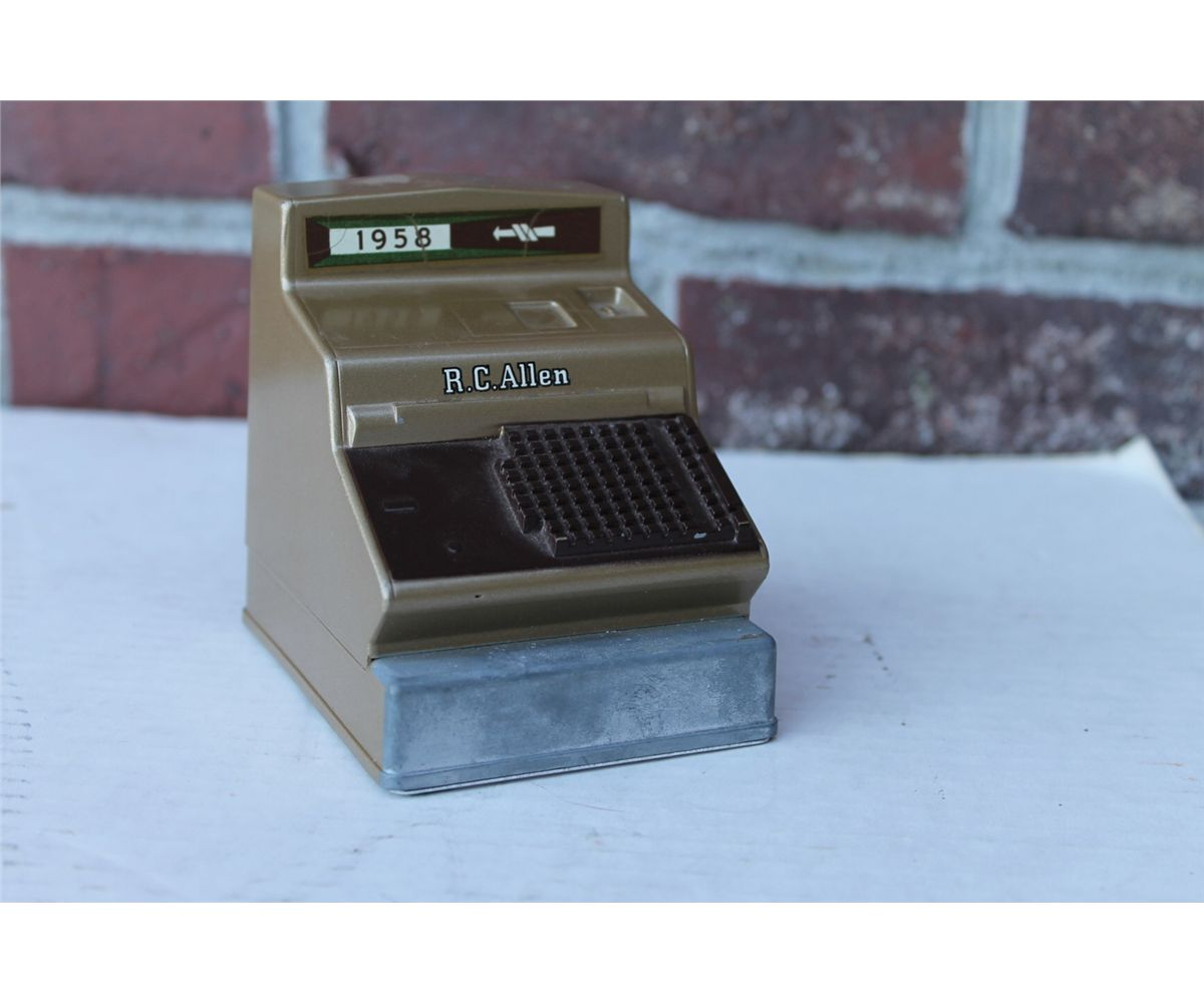 1958 R.C. Allen Figural Cash Register Display Paper Weight Toy Sample