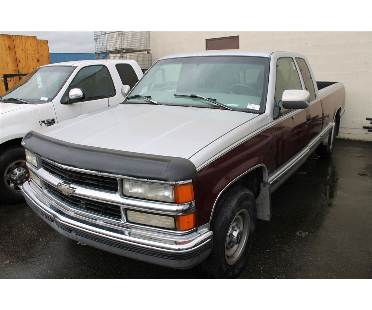 1997 chevrolet silverado 2500 2 door pu red vin 1gcgc29r0ve227461 able auctions. Black Bedroom Furniture Sets. Home Design Ideas