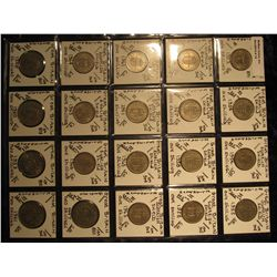 15. Plastic Coin Page containing (20) Coins from Great Britain. Includes Scottish Shield Shilling, E